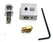 3D Printer Extruder Nozzle Print Head+ Nozzle Throat + Heater Block for Makerbot