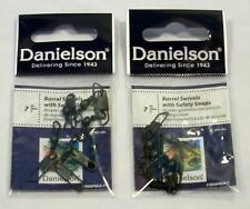 Danielson Black Barrel Swivels with Safety Snaps Size 7 Fishing Tackle Lot of 2