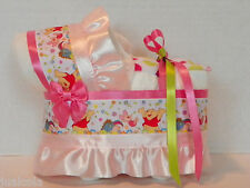 WINNIE THE POOH GIRL DIAPER BASSINET BABY SHOWER TABLE DECORATION GIFT
