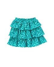 NWT 6 Gymboree Ready Dress Go aqua blue leopard print tiered knit skirt skort