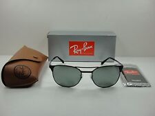 RAY-BAN SIGNET SUNGLASSES RB3429M 002/40 BLACK FRAME/SILVER MIRROR LENS 55MM