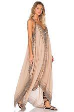 FREE PEOPLE Merida Gauzy Long Maxi Dress Taupe XS/S