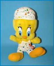 "Looney Tunes Tweety Bird 16"" Stuffed Plush Animal-Painter's Coverall & Cap L@@@K"