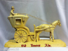 Old Timers Ale beer sign bar chalk figure Sandusky brewing horse buggy statue