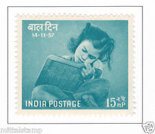 PHILA325 INDIA 1957 SINGLE MINT STAMP NATIONAL CHILDREN DAY EDUCATION 15np MNH
