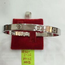18k saudi gold 11.2g white gold Cartier design Bangle bracelet,,,v