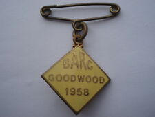 1958 BARC GOODWOOD Donna membri dello smalto pin spilla