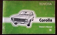 Toyota Corolla original owner's manual 1979 KE30 KE35 KE38