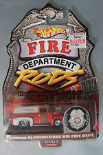 Hot Wheels 1:64 Scale Fire Department Rods '56 FORD TRUCK ALBUQUERQUE NM