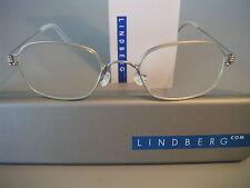 LINDBERG RIM 'KIM' FOR KIDS, SMALL. DESIRABLE TITANIUM FRAMES SILVER, SZ.125/135