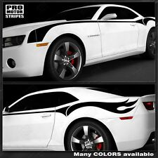 Chevrolet Camaro 2014 2015 Firebreather Side Stripes Flame Decals Pro Motor