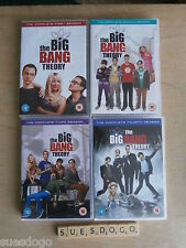 THE BIG BANG THEORY SERIES 1 TO 4 - 87 EPISODES IN A SET OF 13 DVDS