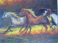 Running Horses Colorful