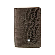 MontBlanc Mocha Leather Card Holder 103403