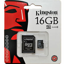 16GB Kingston MICRO SD Memory Card + Adapter for Nikon Canon Sony Samsung Camera