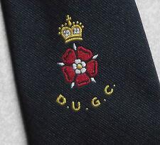 DUGC TIE DERBYSHIRE UNION OF GOLF CLUBS TIE D.U.G.C. NAVY VINTAGE 1970s RETRO