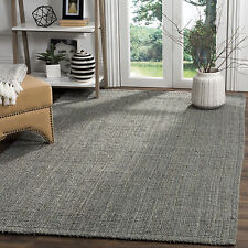 Safavieh Casual Natural Fiber Hand-loomed Sisal Style Grey Jute Rug (5' x 8')