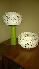 Pair of Mid Century Vintage Style 3 Tier Fiberglass Lamp Shades Starburst Atomic
