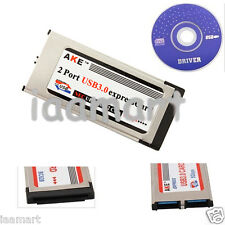Express Card Expresscard to USB 3.0 2 Port Adapter 5Gbps with 34mm/54mm slot