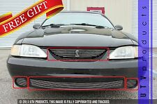 GTG 1994 - 1998 FORD MUSTANG COBRA 4pc CHROME BILLET GRILLE KIT WITH COBRA BADGE