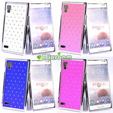 COVER CUSTODIA BACK CASE CON BRILLANTINI PER LG OPTIMUS L9 P760
