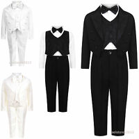 Boys 5 Piece Wedding Party Bow Tie Page Boy Suit Age Size 3 Months - 5 Years