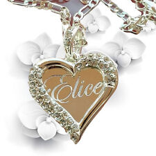 925 Sterling Silver Any Personalized Name Necklace With Heart