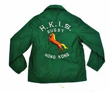 Vintage Hong Kong Rugby Warmup Jacket Med Small Windbreaker Embroidered Polo