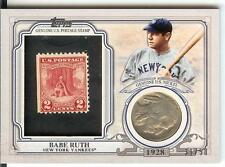 2016 Topps Stamp Coin 1928 Silver Indianhead Nickel Babe Ruth #31/50