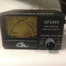 NEW 200 WATT CSE DF2469 DUAL SWR & POWER METER CB RADIO ANTENNA METER 1.8-60 MHz