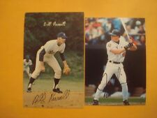 "Jay Gibbons 3/1/2"" x 5 "" Photo + Bill Russell Signed 3/1/2"" x 5 1/2"" Photo"