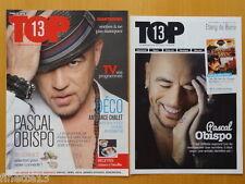 LOT MAGAZINES PASCAL OBISPO EN COUVERTURE DE TOP 13