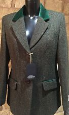 Harris Tweed Hand Woven Ladies Wool Country Riding Blazier Jacket Si/12,14,18