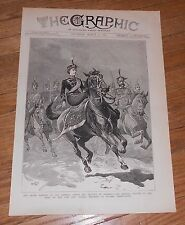 1883 Antique  Print of a Lady Horse Riding Side Saddle