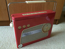 Retro Radio Style Tin Collectable with Handle - Empty