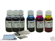 Large HP Canon Lexmark Dell inkjet printer refill ink 300ml Black 300ml color