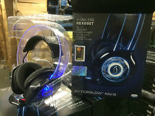 Afterglow Universal Inalámbrico amplificado Gaming Headset Stereo-Azul Brilla!