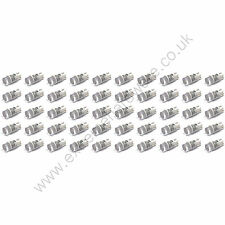 50 x White 12v 10mm T10 Wedge Base LED Bulbs for Arcade Push Buttons - MAME
