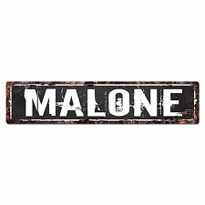 SLND0426 MALONE CAVE Street Chic Sign Home man cave Decor Gift