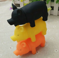 Rubber Pet Dog Puppy Pig Shape Chew Play Toy Squeaker Squeaky With Sound