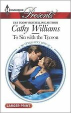 To Sin With the Tycoon Williams ROMANCE Temptation Passion Love Book Novel USA
