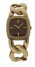 Guess G Link W10103L1 Women's Tonneau Copper Tone Analog Clear Stones Watch