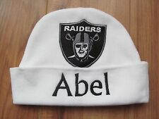 PERSONALIZED MONOGRAM CUSTOM Baby Newborn Beanie Hat Cap Oakland Football