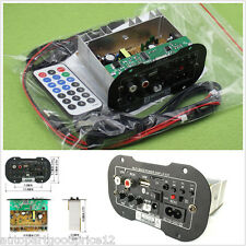30W Bluetooth Car Subwoofer Hi-Fi Bass Amplifier Board MP3 Audio TF USB 12V/24V