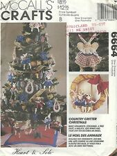 McCall's 6664 Country Critter Christmas   Sewing Pattern
