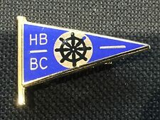 Vintage Enamel Badge Pin HB BC Ensign Flag Ships Wheel Boat Club Boating ? MINT
