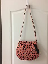"MARC BY MARC JACOBS DEE-LITE DOT NATASHA CROSS-BODY -""SPRING PEACH MULTI""-NWT"