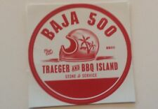 OFF ROAD RACING BAJA 500 TRAEGER AND BBQ ISLAND DECAL STICKER