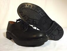 J CREW Men's Round Toe Classic Black Leather Oxfords Hard Rock Sole Size 8.