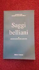 SAGGI BELLIANI - MUZIO M. ALEMANNI - CENTRO STUDI BELLI - EDITORE COMPLOMBO 2000